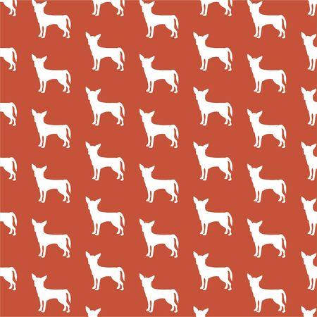 decorative repeat pattern chihuahua wallpaper background design photo
