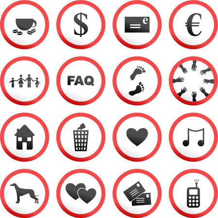 collection of random and made up road signs photo