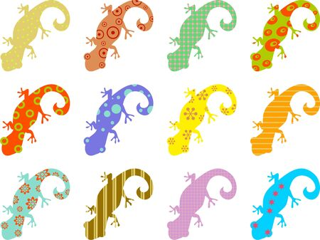 patterned: artistic abstract wallpaper background design with patterned lizards