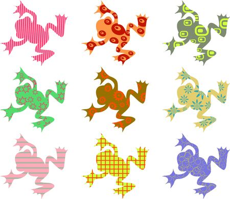 patterned: patterned frogs