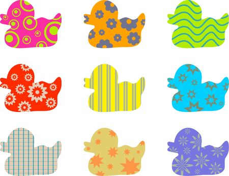 patterned wallpaper: colourful abstract patterned duck wallpaper background design
