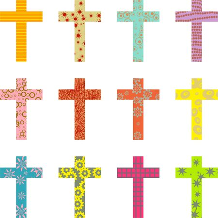 abstract decorative patterned cross wallpaper background design Stock Photo - 3346804