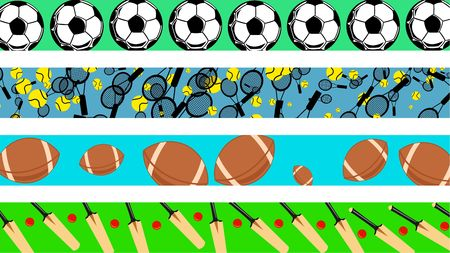 1540 football border stock illustrations cliparts and royalty free set of four decorative page sport border designs voltagebd Image collections
