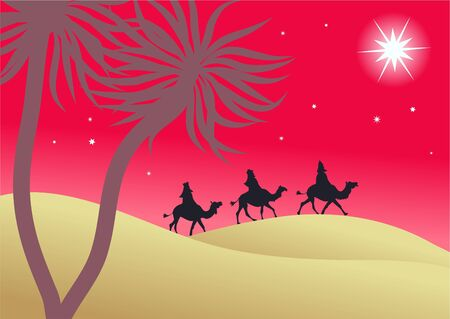 the three kings following the star of David in the east