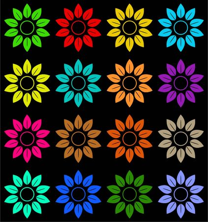 abstract colourful floral background wallpaper patterned design Stock Photo - 3707180