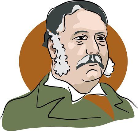 chester: Portrait of American president Chester Arthur 1881-85