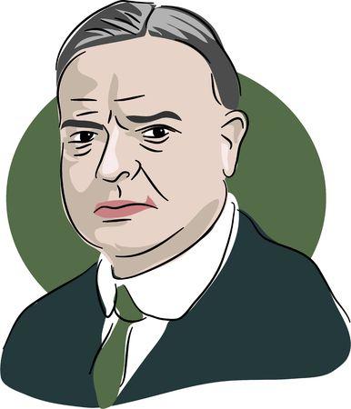 hoover: Portrait of American president Herbert Hoover 1923-33