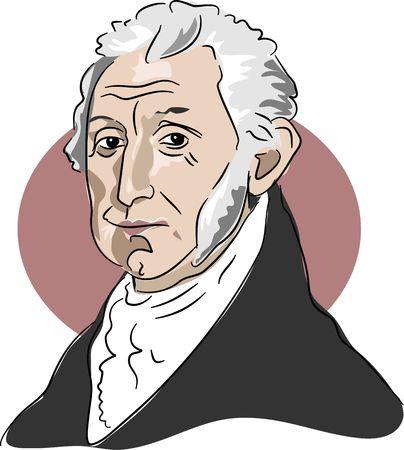 monroe: Portrait of American president James Monroe 1817-25 Stock Photo