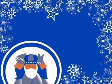 Decorative seasonal Christmas wisemen snowflake page background border design. Stock Photo - 3851432