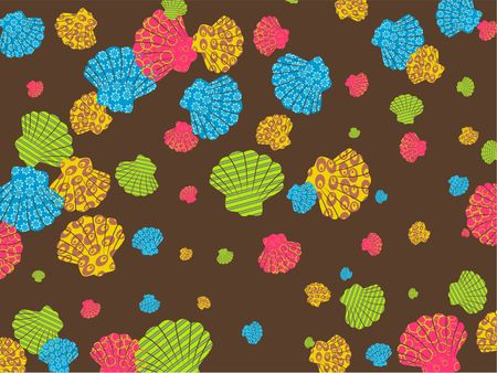 Pel�culas en colores concha de osti�n dise�o de papel tapiz de fondo. Foto de archivo - 3887627