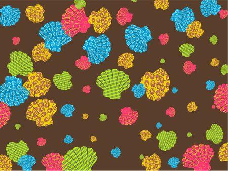 Películas en colores concha de ostión diseño de papel tapiz de fondo. Foto de archivo - 3887627