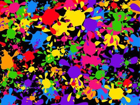 patterned wallpaper: Colourful graffiti paint splatter wallpaper background design. Stock Photo