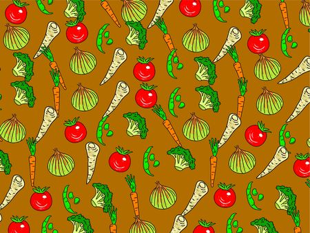 parsnips: Tasty mixed vegetable wallpaper background design - tomatoes, parsnips, onions, broccoli, beans, carrots