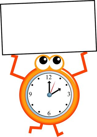 time frame: Mr time holding a blank sign - Just add your own message.