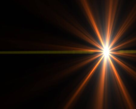 Bright abstract glowing light starburst background design. photo