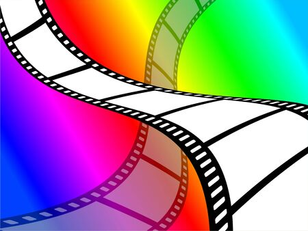 Bright and colourful color film abstract wallpaper background design. photo