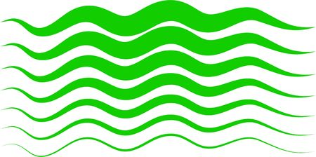 Abstract green wavy lines design element isolated on white. Stock Photo - 4212336
