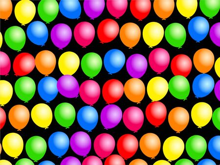 Colourful birthday party balloon wallpaper background design. Stock Photo - 4592709