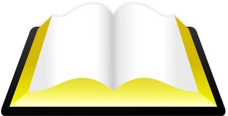 bible ouverte: Une bible ou un livre blanc sur isol�s.