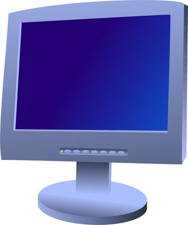 prawny: A flat screen computer monitor isolated on white. Stock Photo