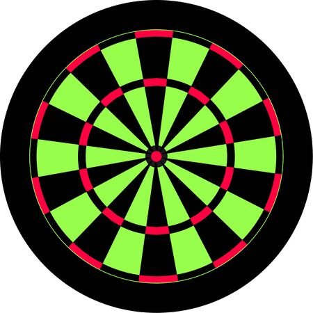 prawny: Dartboard illustration with pink and green segments isolated on white.
