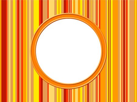 prawny: Artistic abstract modern style photo frame border made up of yellow, red and orange stripes.