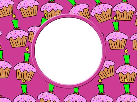 Whimsical Birthday Cake Frame Border Design. Just Add Your Own ...
