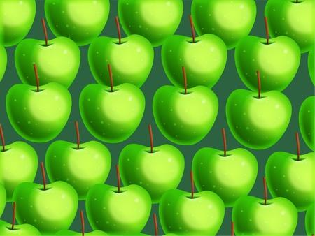 crispy: Vibrant green crispy apple wallpaper background design.