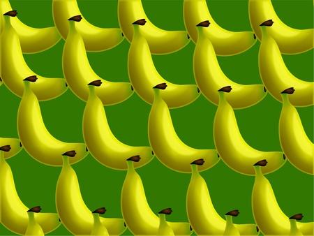 prawny: Vibrant green and yellow banana wallpaper background design.