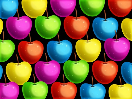 gm: Very vibrant and tasty looking colourful apple wallpaper background design.