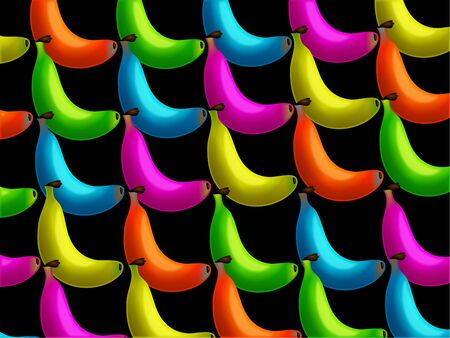 genetically modified: Very vibrant and tasty looking banana wallpaper background design with the bananas in different colours. Maybe they have been genetically modified.