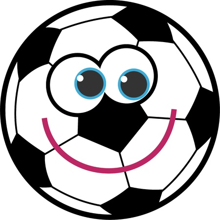 smile ball: Cute cartoon soccer ball with a happy smiling face.
