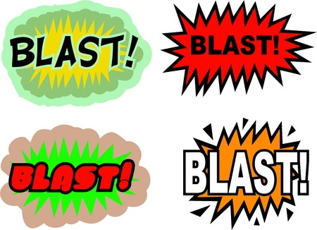 A collection of comic book cartoon sound effects isolated on white. Stock Photo - 10668229