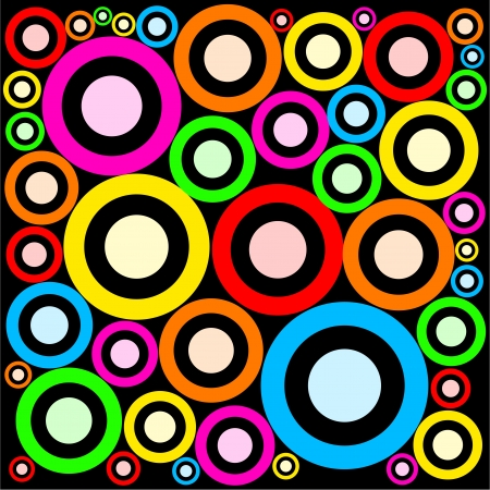 color ring: Really fashionable and funky retro ring shaped abstract wallpaper design.