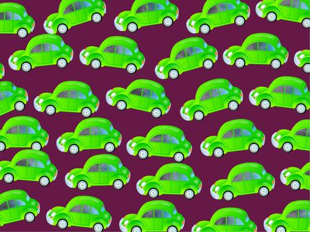 congested: Cute cartoon design made up of green eco friendly bubble cars forming a congested traffic jam wallpaper  Stock Photo