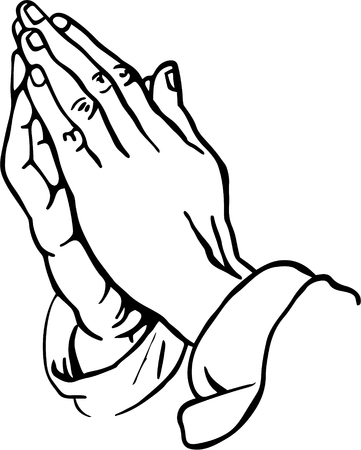 manos orando: Praying Hands Clipart Foto de archivo