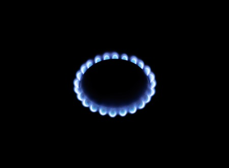 nintendo: image of a burning natural gas is isolated on a black background