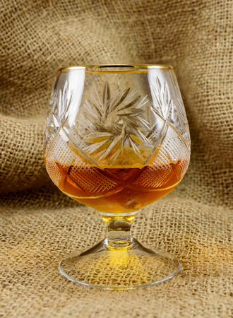 crystal glass: Aged whiskey in a crystal glass. design element