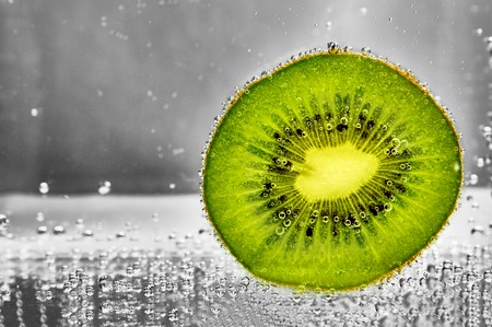 Cut kiwifruit water. design element