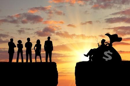 불평등과 사회 계층. 부자와 가난한 사람들 사이의 간격 스톡 콘텐츠