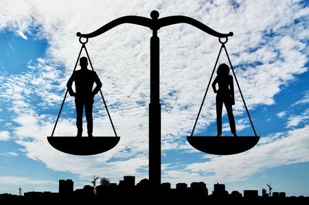 Féminisme et l'égalité. L'équilibre social entre les femmes et les hommes