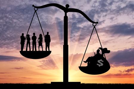 Nierówności społeczne. Nierówność społeczna między bogatymi i zwykłych ludzi