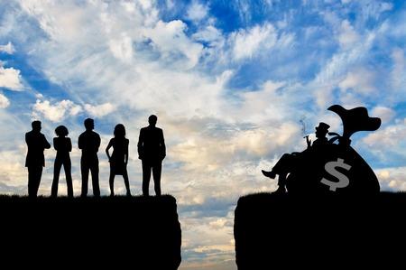 Ungleichheit und soziale Klasse. Die Kluft zwischen armen und reichen Menschen