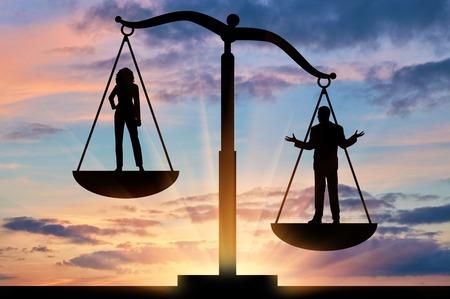不平等とフェミニズム。女性と男性の間の社会的不平等
