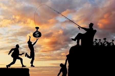 社会的な不平等。人々 は金持ち、奈落の底に落ちるお金後、実行しています。