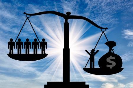 People power money higher socio - economic level. Concept socio -economic inequalities people. Stok Fotoğraf