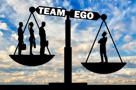 Interests of one employee with a big ego are in priority over three employees. The concept of social problems as ego