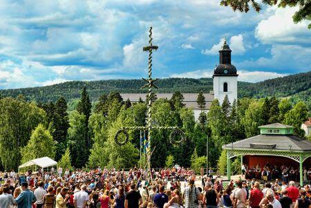 s eve: Midsummer s Eve in Sweden Editorial