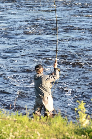 Fly fishing at the River photo