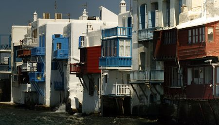 Mykonos little Venice area - Greece Stock Photo - 1988255